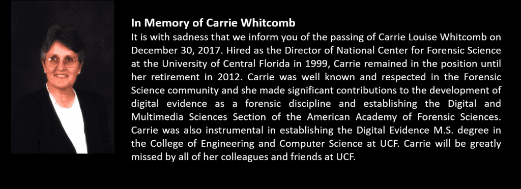 In Memory of Carrie Whitcomb